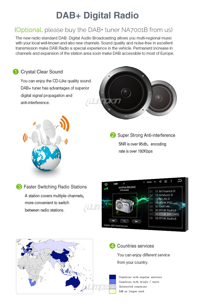 10.1 inch Touchscreen Bluetooth Radio for Car Android 7.1 Car Stereo Quad Core with GPS Navi RAM:2GB + ROM:32GB