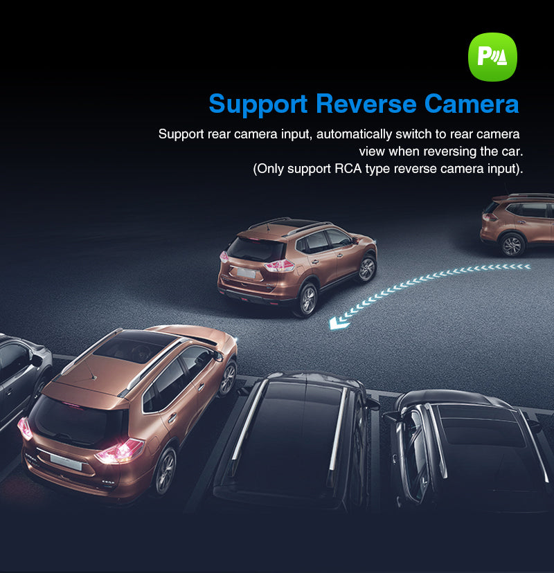 Android 9.0 Car Stereo support rear-view camera