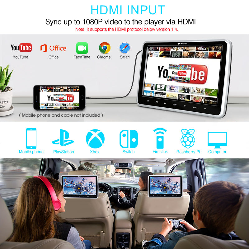 headrest tv monitor