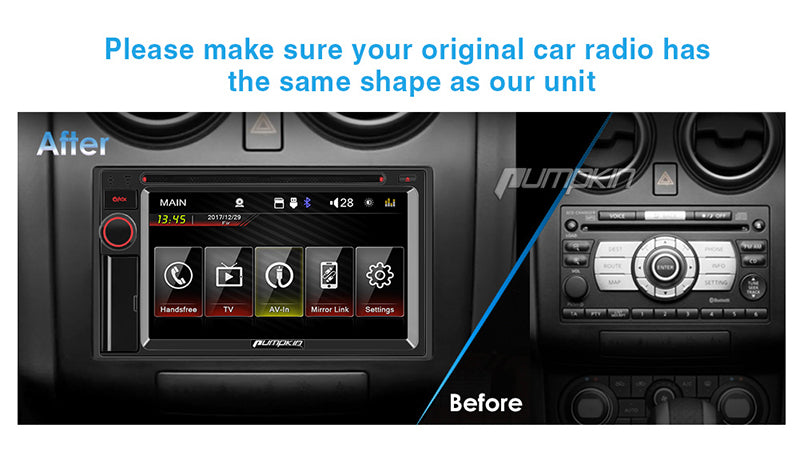 Car DVD Player Wince System Universal Double Din 6.2 inch Touchscreen Car Radio with Bluetooth