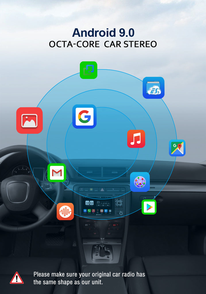 android 9.0 audi a4 stereo