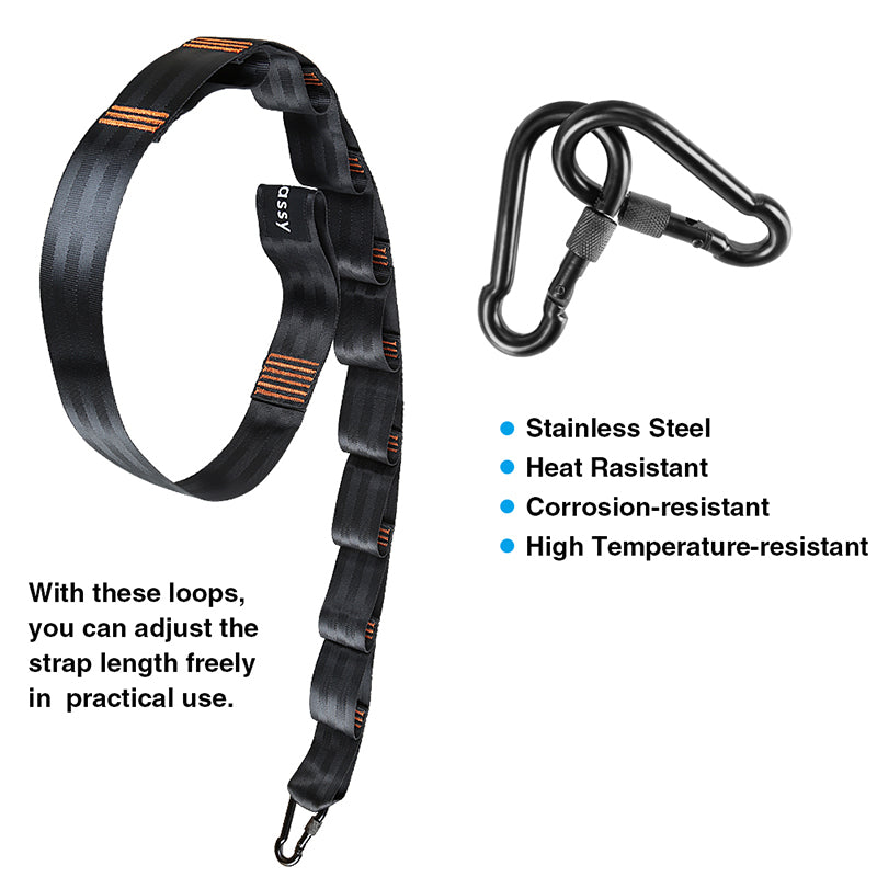 Tree Swing Straps Hanging Kit, 5 Ft Strap with 10 Adjustable Loops, Hold Up to 9000lbs, Free Tree Protectors