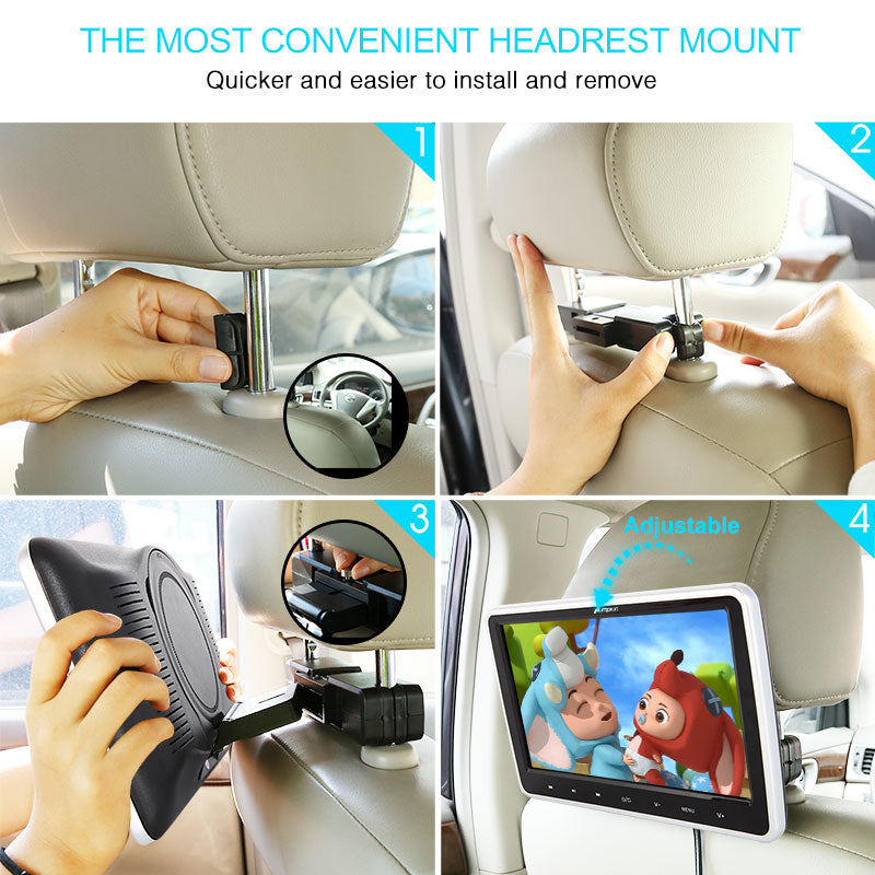 how to install a headrest monitor