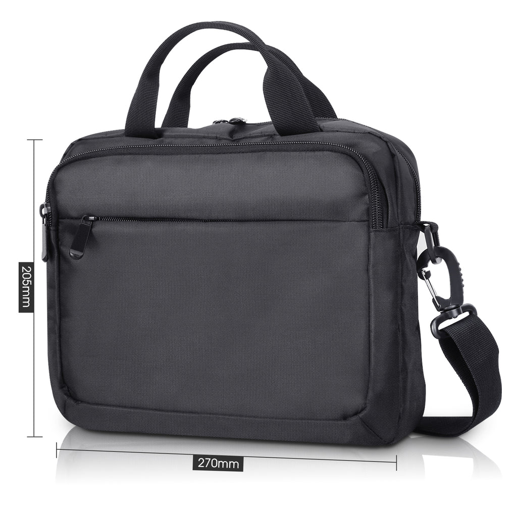 Business Messenger Bag Shoulder Bag for 10.1 inch Single Screen Portable DVD Player and Tablet-Black