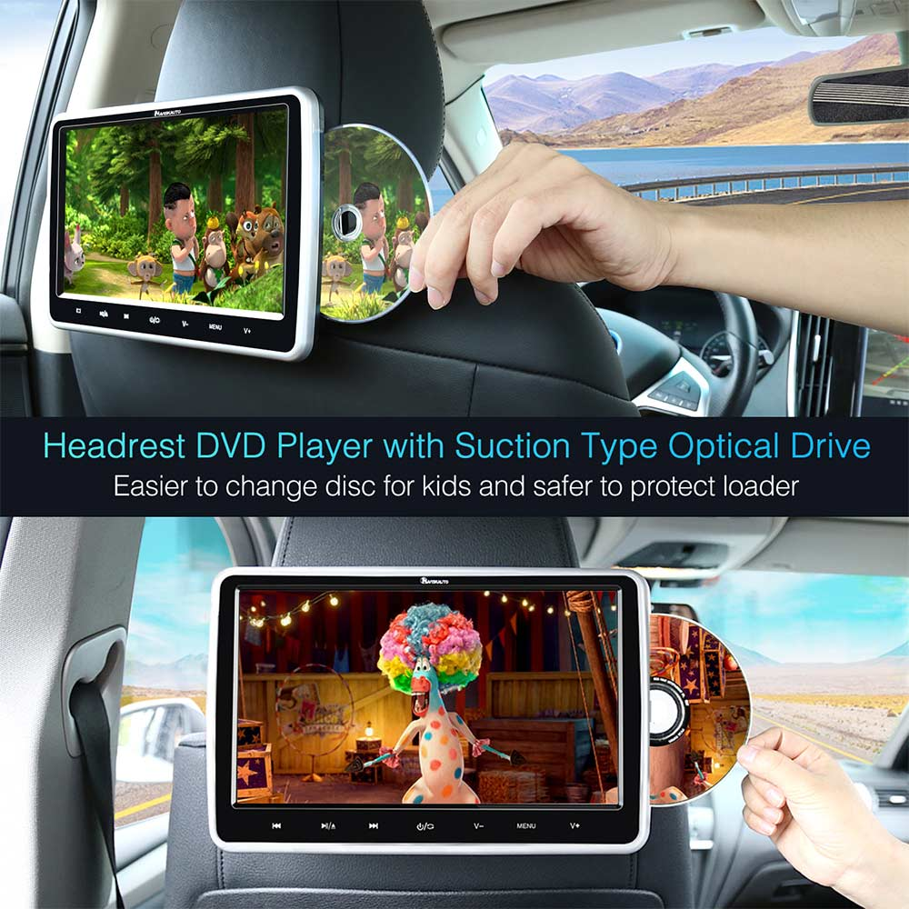 Dual DVD Player 10.1 Inch Dual Ultra-thin HD Display With Customized Headrest Mount Holder For Car