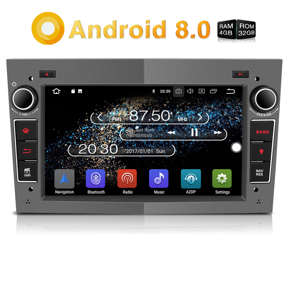 Head Unit Car Audio Android 8.0 Car Stereo/Radio for Opel/Vauxhall Corsa Astra Vivaro Antara Zafira Meriva Vectra Double Din 7 Inch Touchscreen