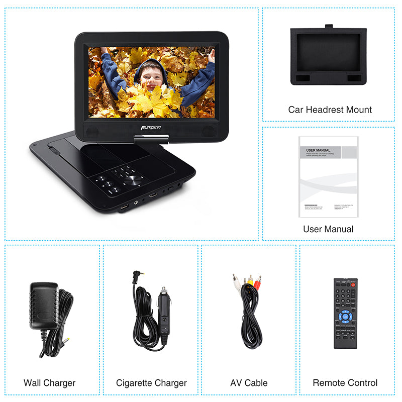 Universal Headrest dvd player