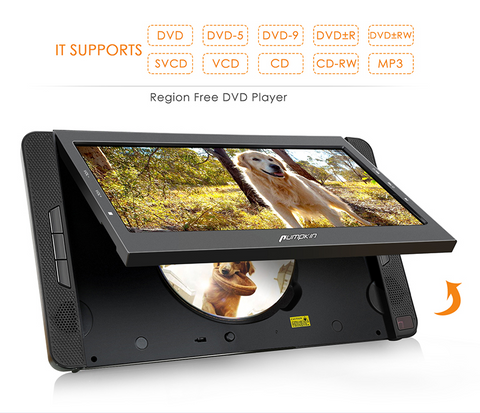 Pumpkin DVD player supports DVD R and DVD RW