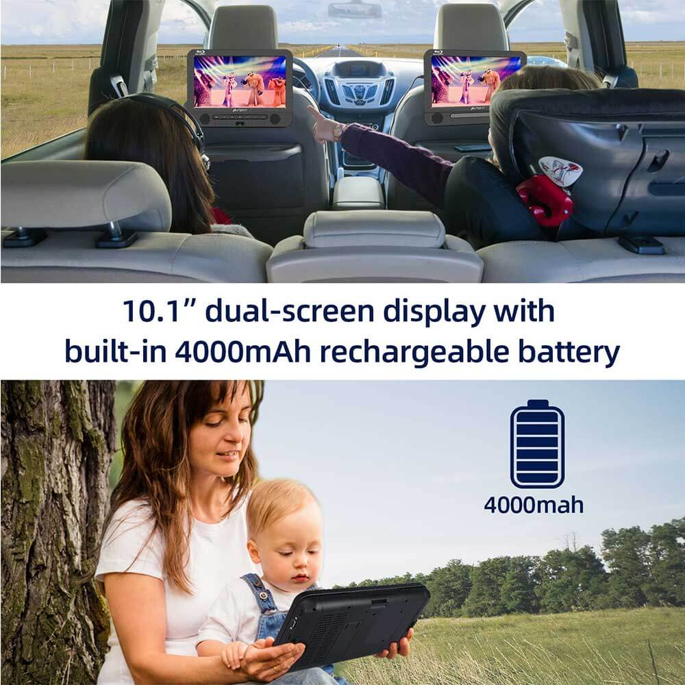 dual portable dvd player for car