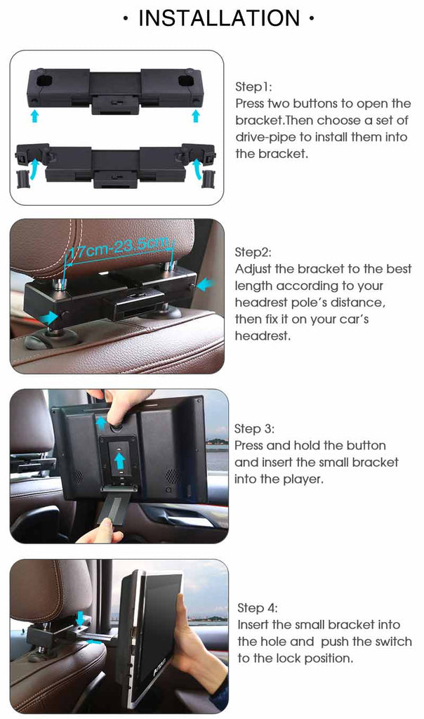 Car Video 10.1 Inch Headrest Monitor DVD Player With Suction Type Optical Drive,easier to change disk for kids and safer to protect loader