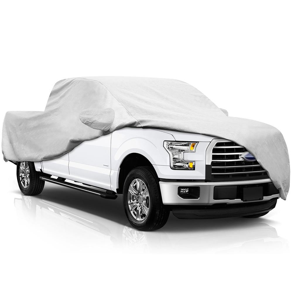 Pickup Truck Cover for Ford F150 2001-2017, 6 Layers All Weather Waterproof, Windproof Dustproof Scratch Proof F150 Outdoor Car Cover, Free Windproof Ribbon & Anti-Theft Lock