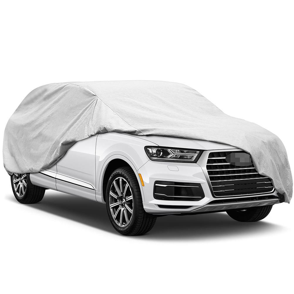 Waterproof SUV Cover, Universal Sun Cover for Car with Free Windproof Straps and Anti-Theft Lock
