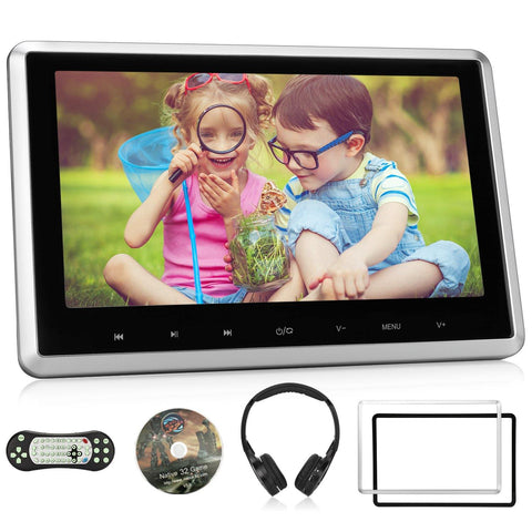 12.5 Inch Portable DVD Player with 1920×1080 HD Swivel IPS Screen and 4000mAh Rechargeable Battery Support 1080P Video / AV Out & in / SD & USB / Region Free