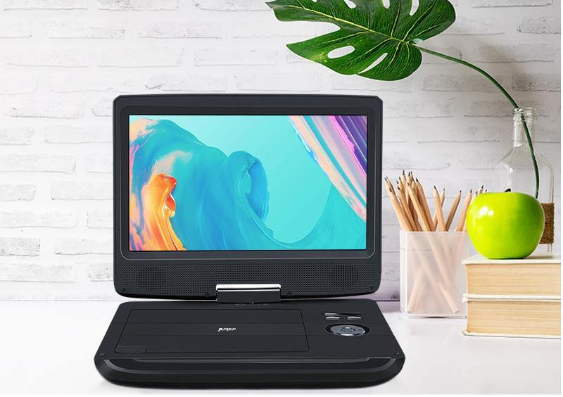 10.1 Inch Portable DVD Player with 1024×600 Swivel & Tilt Screen, Built-in up to  5 Hours Rechargeable Battery (Clearance)