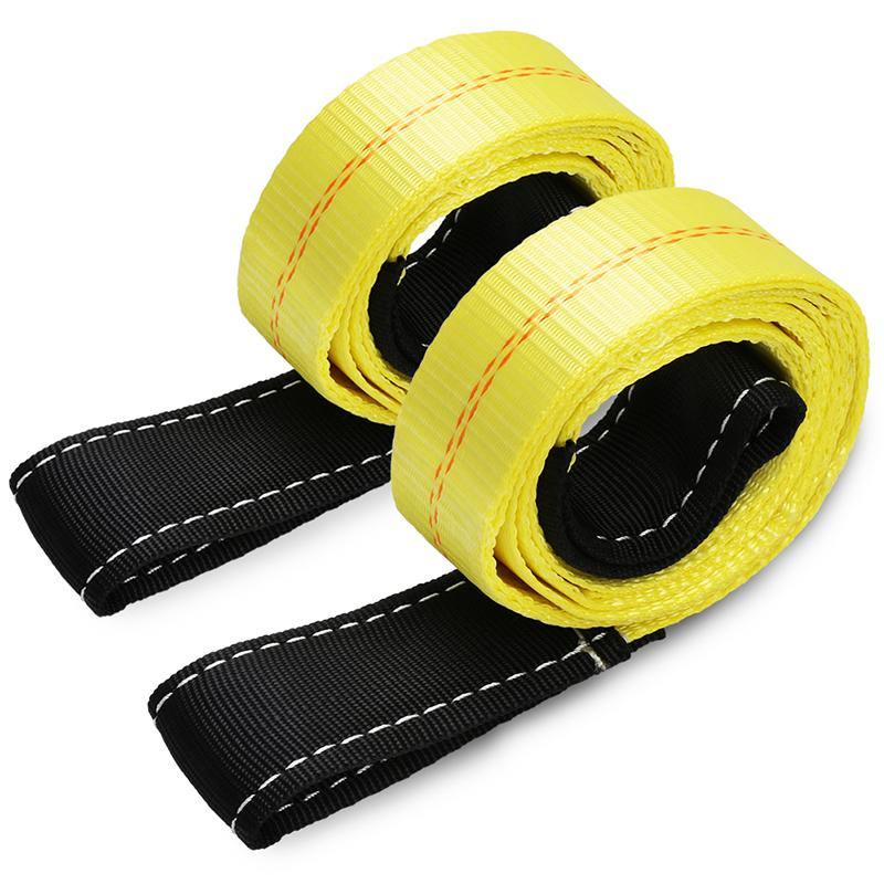 2pack 6ft x 2in lift sling with flat loops 10,000Lbs Max Vertical Break Strength