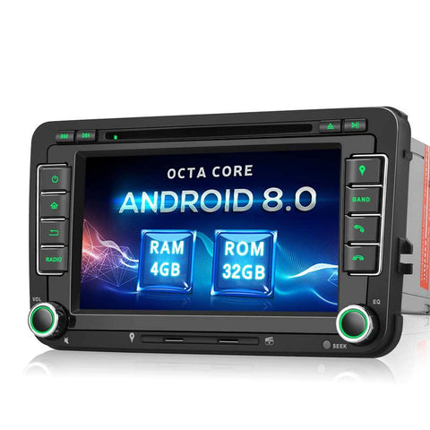 Android Auto Head Unit for VW Skoda Seat Golf Series Double Din 7 Inch Touchscreen Car Stereo with DVD Player GPS Navigation RAM:4GB + ROM: 32GB