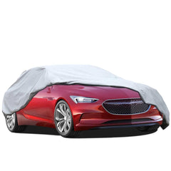 "Car Cover Waterproof Windproof All Weather Snow Covers, Indoor Outdoor Car Covers with Free Windproof Ribbon & Anti-theft Lock, Fits 170"" - 199"""
