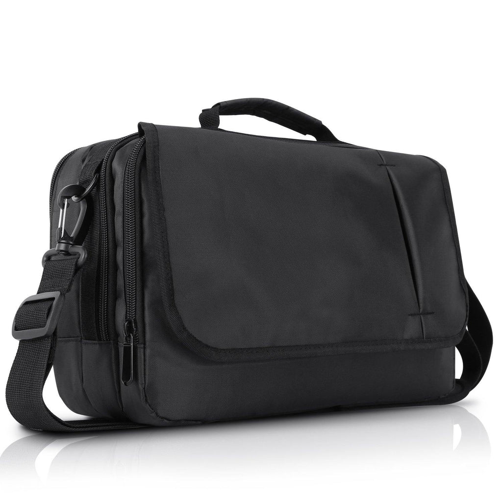 Business Messenger Bag Shoulder Bag for 10.1 inch Dual Portable DVD Player and Tablet-Black (10.1 inch)