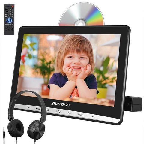 "Car Headrest DVD Player 12"" HD Screen With Touch Button And Customized Headrest Mount Holder"