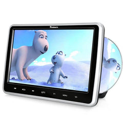 10.1 Inch Car Headrest DVD Player Monitors Suction Design with Last Memory, Touch Buttons, Remote Control