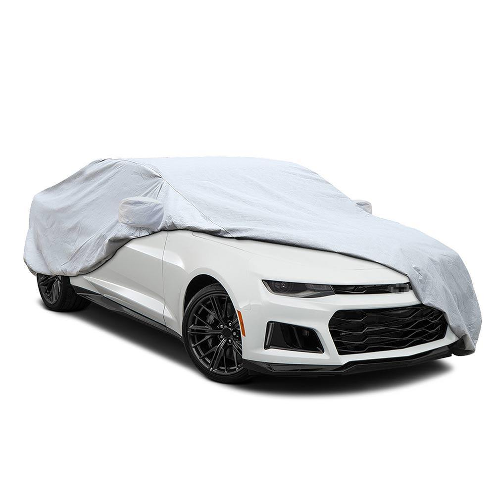 6 Layers Camaro Car Cover for Chevrolet Camaro 2010-2016, Sun Cover for Car, Waterproof Windproof Dustproof Scratch Proof Camaro Cover, Free Windproof Ribbon & Anti-theft Lock
