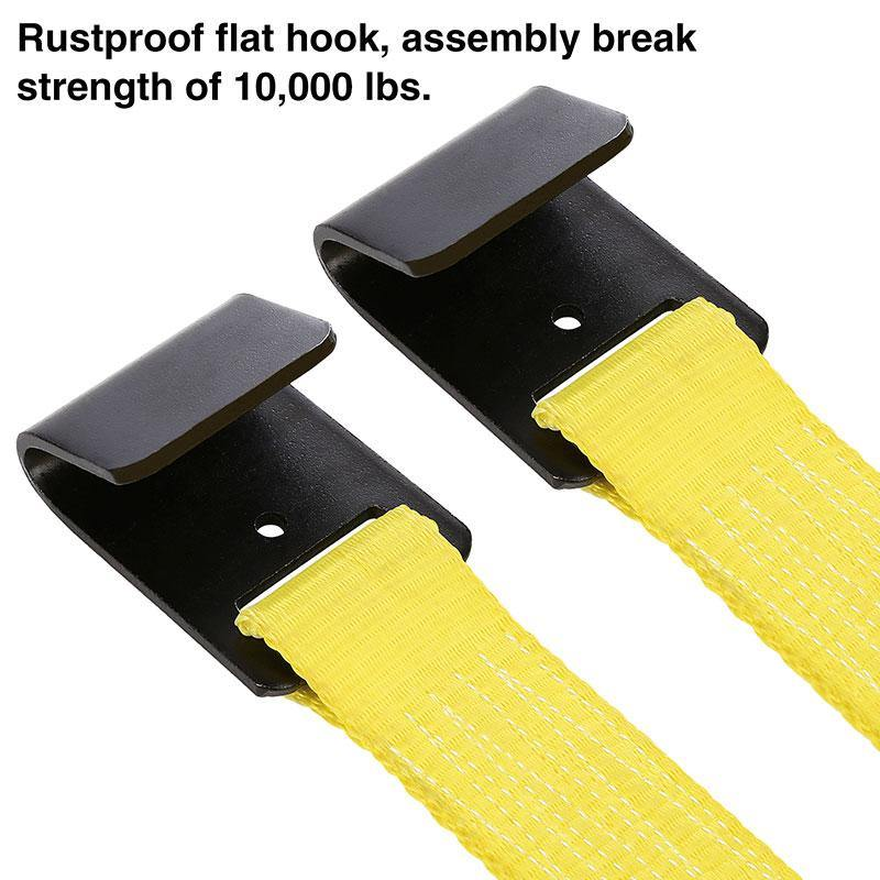 Trekassy Wheel Net Car Tow Dolly Straps with Flat Hooks 2 Pack Heavy Duty for 14