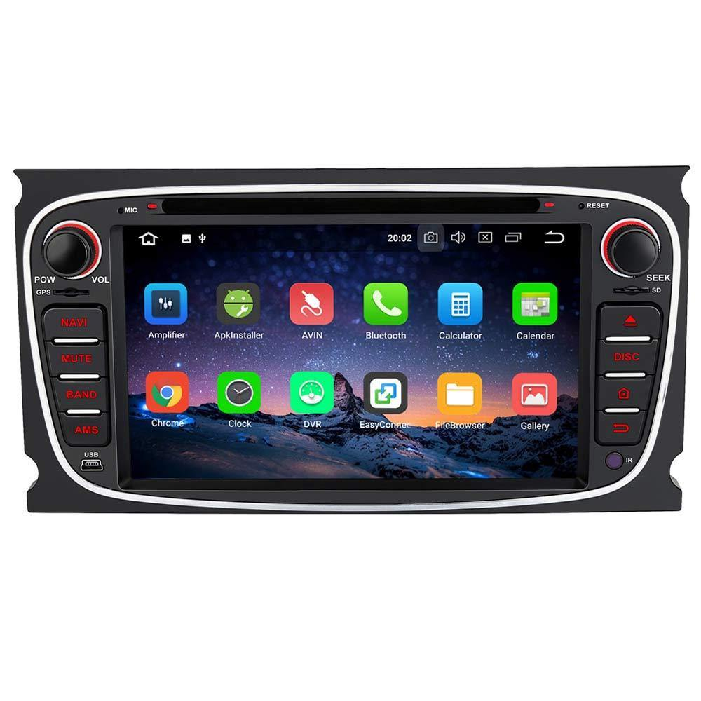 Head Unit Android 8.0 Car Stereo/Radio for Ford Focus Galaxy Mondeo S-Max Double Din 7 inch Touchscreen with GPS Navi DVD Player RAM: 4GB + ROM: 32GB