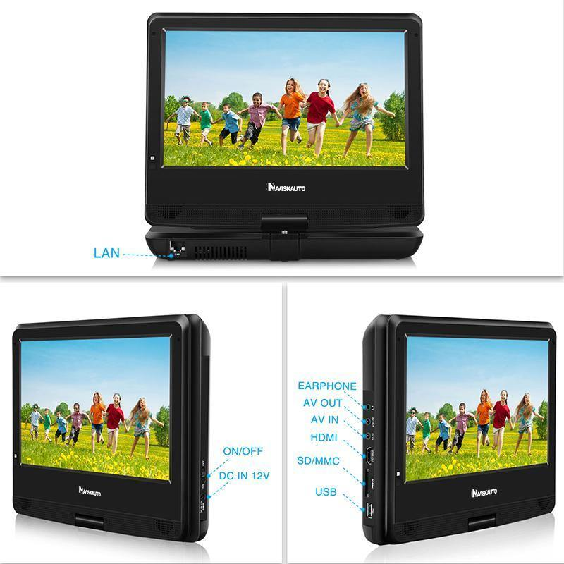 10.1 Inch Portable Blu-ray DVD Player Built-in li-ion battery, Support Dolby, Full HD 1080P, HDMI output, USB and SD