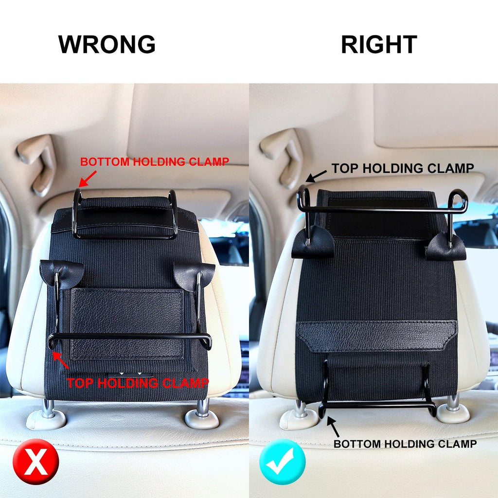 Headrest Mount for DVD Player, Car Headrest Mount Holder fit for 10.1-12.5 inch Swivel Screen Portable DVD Players