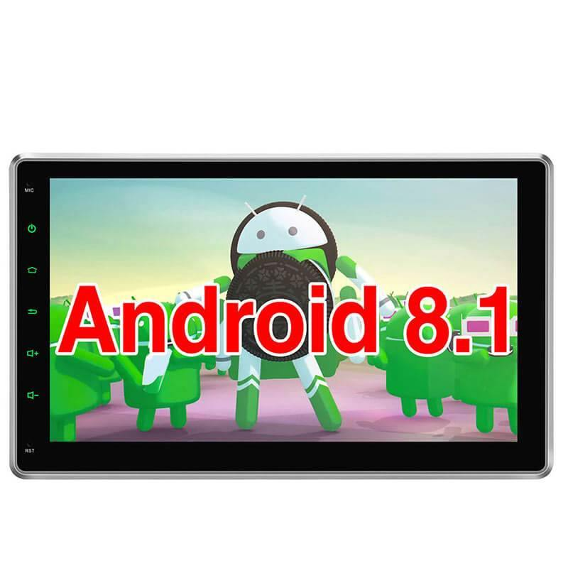"Universal Android 8.1 Oreo Car Stereo Pumpkin 10.1"" Touchscreen Octa-Core DVD Player With High-definition IPS Screen Split Screen Mode Allows Running Two Applications Side by Side"