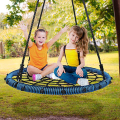 "40"" Spider Web Tree Swing for Home Backyard, Max 660lbs"