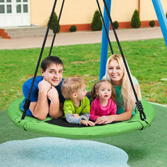 40 Inch Outdoor Saucer Swing 900D Oxford Waterproof with Accessories