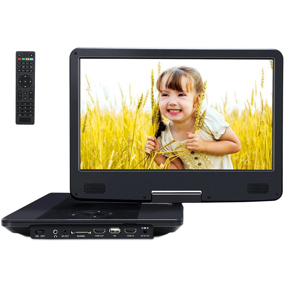 "14"" Portable Blu Ray Player with Full HD 1080P Screen Supports USB/SD-Playback, HDMI Input & Output"