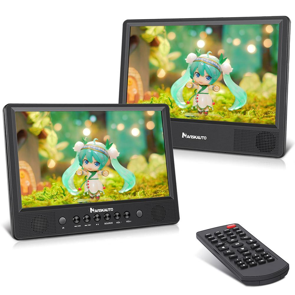 "10.1"" Portable DVD Player with 2 Car Mounting Straps, Supports USB/SD/MMC, AV Input and Output"