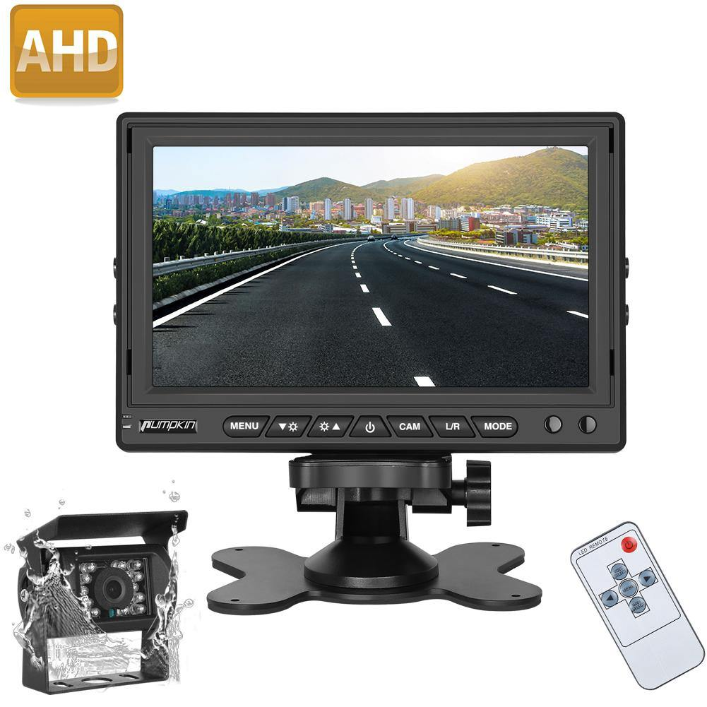 Infrared backup camera with IP69 7-in LCD TFT Monitor, Built-in SONY CCD sensor, Wide View Angle, Night Vision