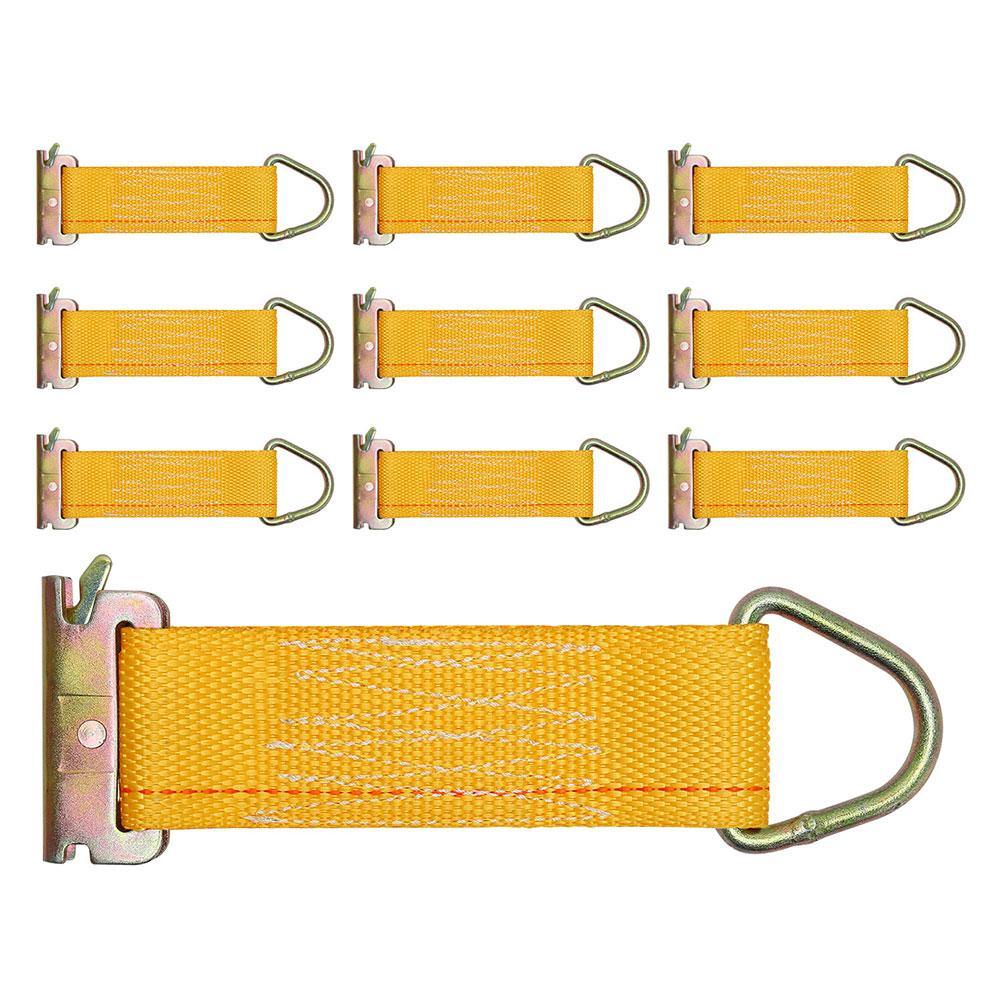 10-Pack D rings Industrial Grade E-Track Rope Tie Offs with 1,100 Lbs working load capacity