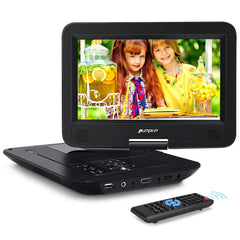 10.1 Inch Portable DVD Player 1080P Headrest Monitor with Built-in HDMI and 2500 mAh Rechargeable Battery Support USB MP3 AV-IN/AV-OUT