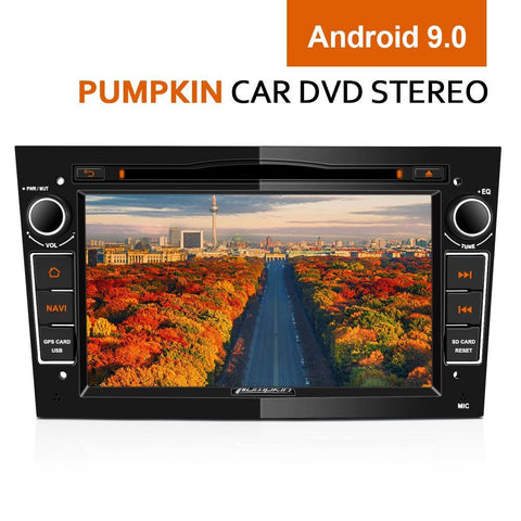 "Pumpkin 7"" Opel Car Head Unit Stereo Android 9.0 with Radio, Bluetooth, GPS, DVD Player"