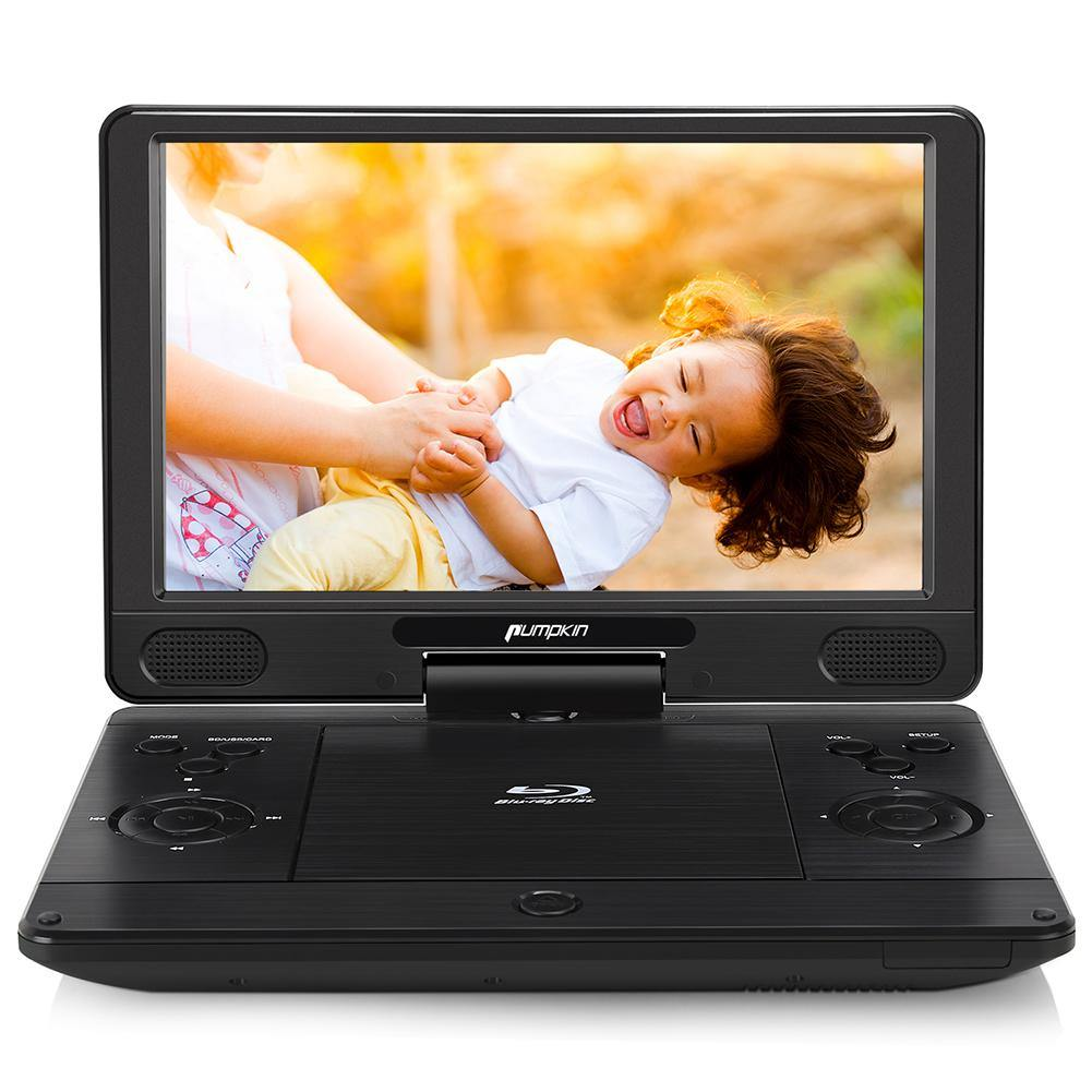 HD 1080P 12 Inch DVD and Bluray Player with Rechargeable Battery Support USB/SD/MMC/AUX/HDMI output