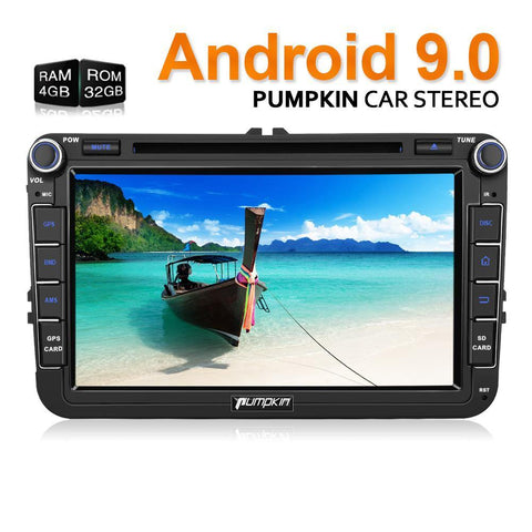 "Pumpkin 8"" Touchscreen Octa-core Android 9.0 Pie Car Stereo for VW, Seat, Skoda"