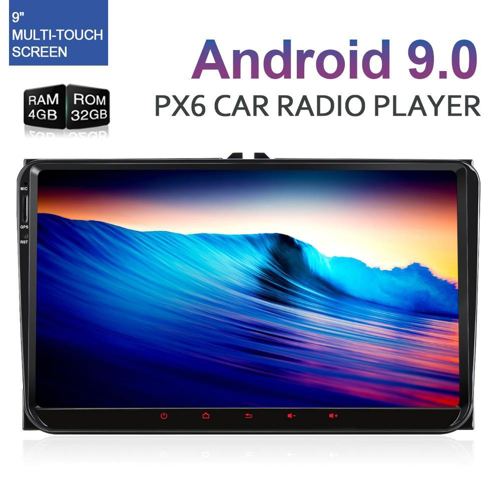 Pumpkin 9 inch 1024*600 PX6 Android 9.0 Pie Car Stereo DVD Player for VW, Seat, Skoda with 4G RAM and 32 G ROM