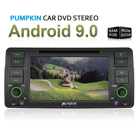 "Pumpkin 7"" Touchscreen Octa Core Android 9.0 Infotainment System  with GPS Navigation fit for BMW 3 Series E46 M3 318 320 325 330 335"
