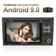 "7"" Touchscreen Octa Core Android 9.0 Car Stereo for Audi A4 with Bluetooth, RDS Radio, Navigation (RAM:4GB/ROM:32GB)"