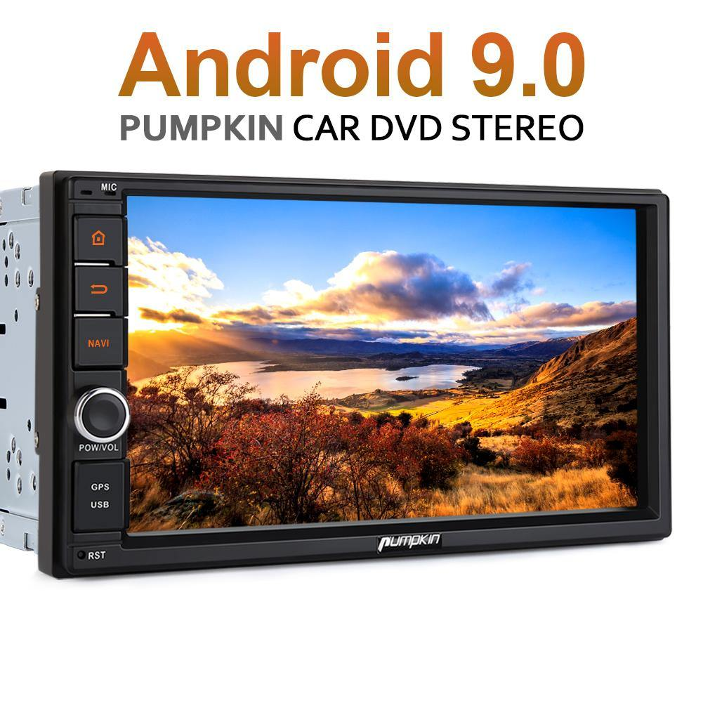 "Pumpkin 2 Din Octa-core Android 9.0 Universal Car Stereo 7"" with Radio Bluetooth GPS Navigation"