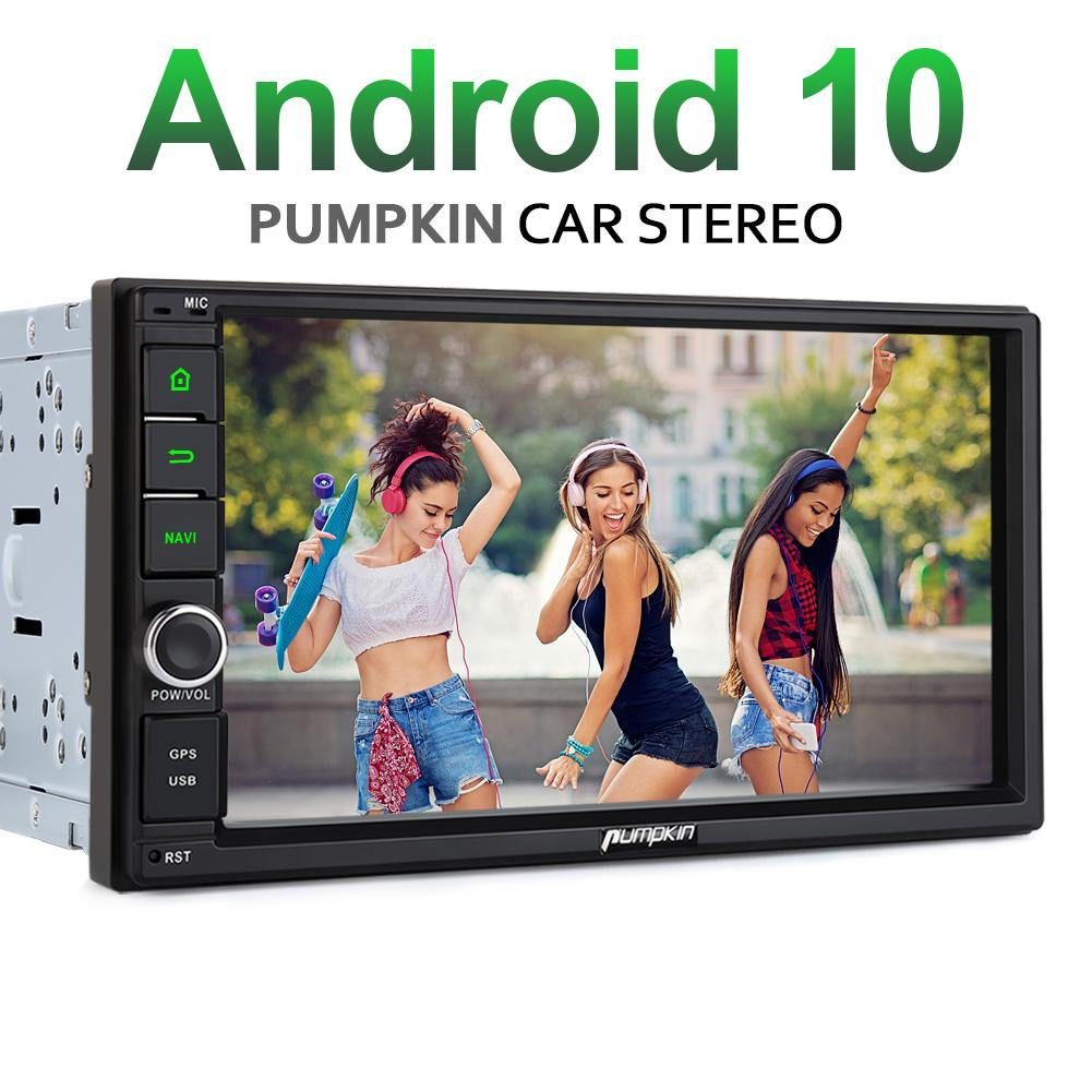 Pumpkin Android 10 Car Stereo 2 Din 7 Inches Car Music System with Bluetooth and Navigation