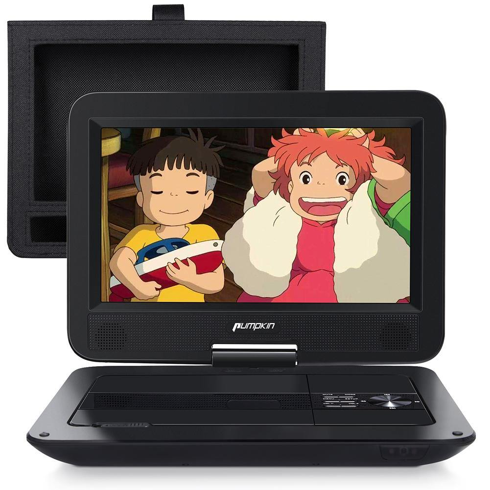 10.1 inch Portable DVD Player for Kids Car Headrest Monitors with 2500 mAh Rechargeable Battery, Support HDMI Input/AV-OUT