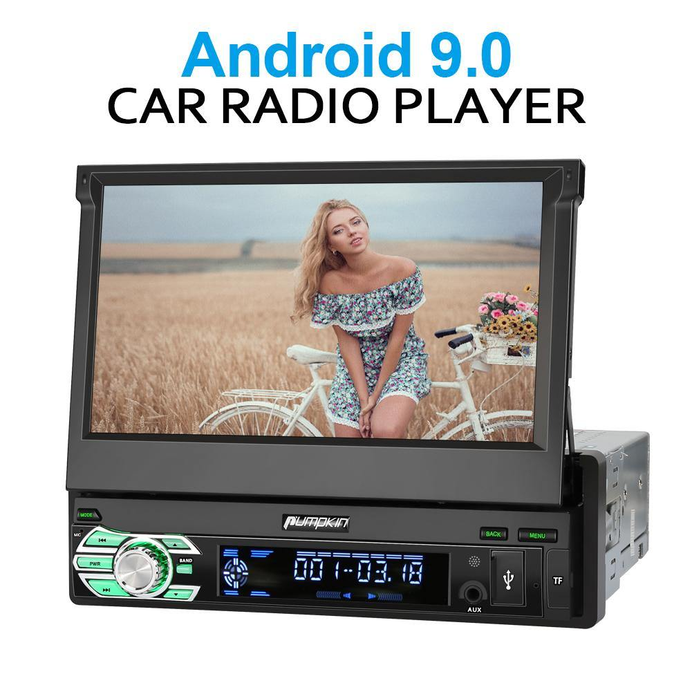 Pumpkin 7 inch touch screen Android 9.0 Single DIN Car Stereo/Radio with GPS Navi Bluetooth