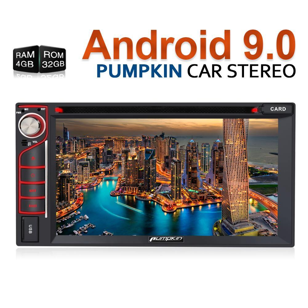 "6.2"" Double Din Touchscreen Octa-Core Android9.0 Oreo Car Stereo DVD Player &  RAM:4GB/ROM:32GB"