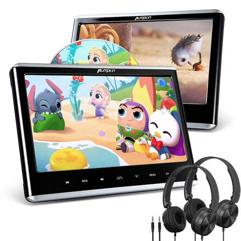 2*12 Inch Ultra-thin IPS Screen Car Headrest Monitor DVD Player with Headphone and Remote Control