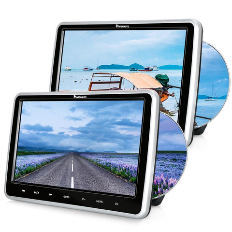 "10.1"" Car DVD Player with Dual Screens, Supports USB/SD Playback, AU IN & OUT"